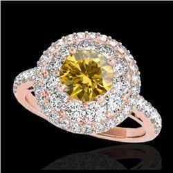 2.50 ctw Black & White VS/SI Diamond Earrings 18K White Gold