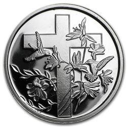 1 oz Silver Round - Religious Cross