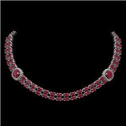 5 ctw Garnet & VS/SI Diamond Earrings 14K Rose Gold