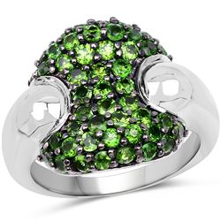 2.50 ctw Garnet & VS/SI Diamond Necklace 14K Rose Gold