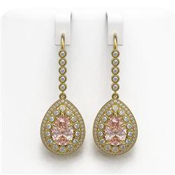 3.05 ctw VS/SI Diamond 2pc Wedding Set Halo 14K White Gold