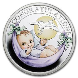 2019 Tuvalu 1/2 oz Silver Newborn Proof
