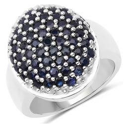 2.59 ctw Fancy Black Diamond Solitaire Ring 10K Rose Gold
