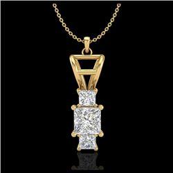 4.97 ctw Emerald & Diamond Necklace 14K White Gold