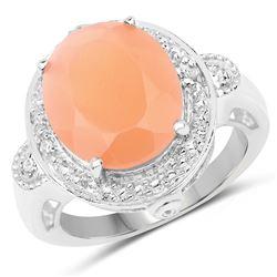 2.52 ctw Genuine Orange Sapphire .925 Sterling Silver Bracelet