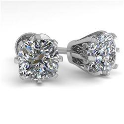1.53 ctw Emerald & Diamond Ring 18K White Gold