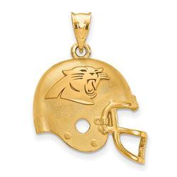Sterling Silver Gold-plated Carolina Panthers Helmet Pendant