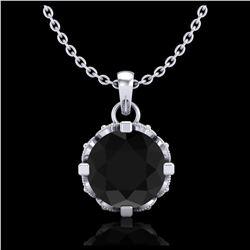 1.26 ctw Intense Blue Diamond Necklace 10K White Gold