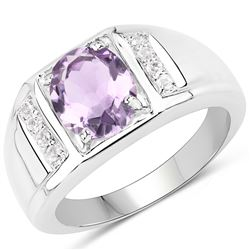 1.26 ctw Genuine Multi Sapphire .925 Sterling Silver Ring