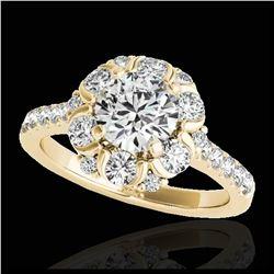 2.25 ctw Tanzanite & VS/SI Diamond Ring 10K White Gold