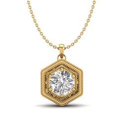 10.36 ctw Citrine & VS/SI Diamond Tennis Earrings 10K White Gold