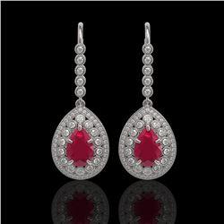 3 ctw Citrine & Halo VS/SI Diamond Necklace 14K Rose Gold