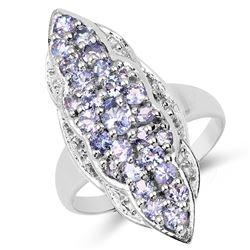 1.91 ctw Genuine Blue Topaz .925 Sterling Silver Ring