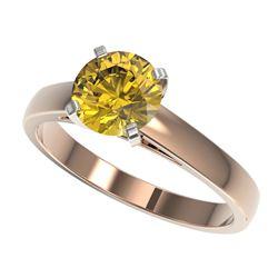 2.25 ctw VS/SI Diamond Art Deco Stud Earrings 14K Rose Gold