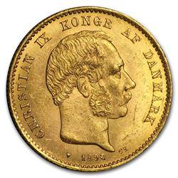 1873-1900 Denmark Gold 20 Kroner Christian IX BU (Random)