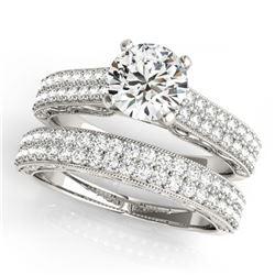 12.0 ctw Blue Sapphire & Diamond Bracelet 18K White Gold