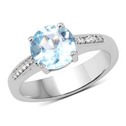 0.66 ctw Genuine White Diamond .925 Sterling Silver Bangle