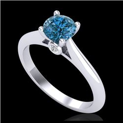 1.33 ctw H-SI/I Diamond Solitaire Halo Ring 10K Yellow Gold