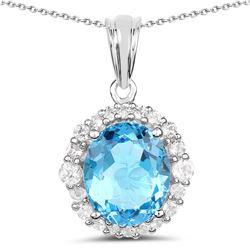 2.96 ctw Genuine Blue Topaz .925 Sterling Silver Ring