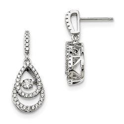 Sterling Silver & Vibrant Zirconia Brilliant Embers Earrings