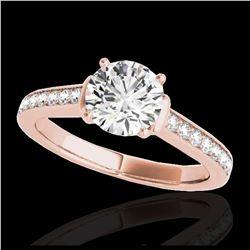 2.01 ctw SI Fancy Blue Diamond Bypass Ring 10K Rose Gold