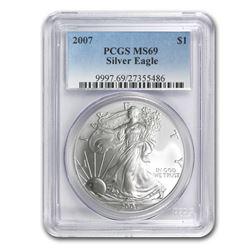 2007 Silver American Eagle MS-69 PCGS