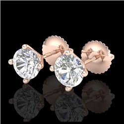 3.50 ctw Sapphire & VS/SI Diamond Ring 18K White Gold