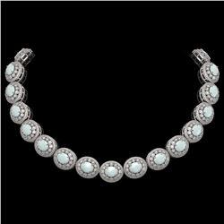 9.27 ctw Jade & Diamond Ring 14K Rose Gold