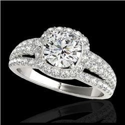 2.55 ctw H-SI/I Diamond Stud Earrings 10K White Gold