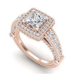 4.52 ctw Pear Diamond Earrings 18K Rose Gold