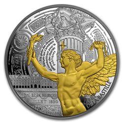 2017 France 5 oz Silver 50 Treasures of Paris (Bastille Genius)