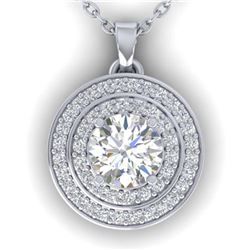 1.28 ctw H-SI/I Diamond Necklace 10K Yellow Gold