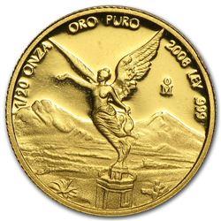 2008 Mexico 1/20 oz Proof Gold Libertad