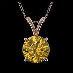 2 ctw VS Black Diamond Solitaire Ring 10K White Gold
