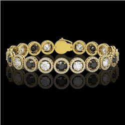 7.50 ctw Sky Topaz & VS/SI Diamond Earrings 18K Yellow Gold