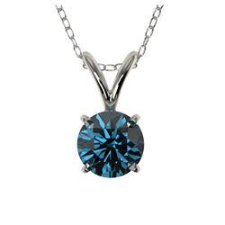4.00 ctw Genuine Blue Zircon .925 Sterling Silver Ring