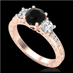 1.75 ctw H-SI/I Diamond Solitaire Halo Ring 10K Rose Gold