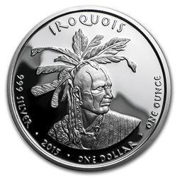 2015 1 oz Silver Proof State Dollars Pennsylvania Iroquois