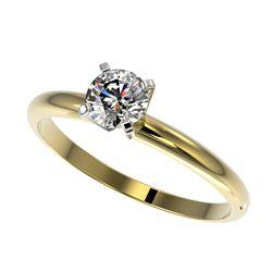0.85 ctw VS/SI Diamond 3 Stone Ring 14K Yellow Gold