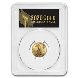 2020 1/4 oz Gold Eagle MS-70 PCGS (First Day\, Black Label)