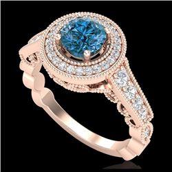 13.19 ctw Jade & Diamond Halo Bracelet 10K White Gold