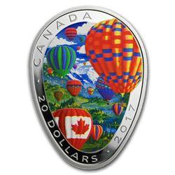 2017 Canada 1 oz Silver $20 Hot Air Balloon