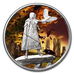 1 oz Silver Colorized Round - Celtic Lore (The Morrigan)