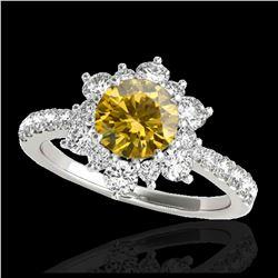 2.59 ctw Fancy Black Diamond Solitaire Ring 10K Yellow Gold