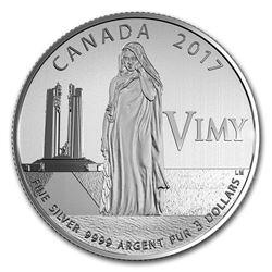 2017 Canada 1/4 oz Ag $3 Anniversary of the Battle of Vimy Ridge
