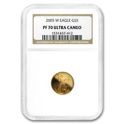 2005-W 1/10 oz Proof Gold American Eagle PF-70 NGC