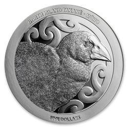 2019 New Zealand 1 oz Silver Proof North Island Takahe