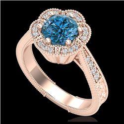 2.26 ctw SI Intense Yellow Diamond Bypass Ring 10K Rose Gold