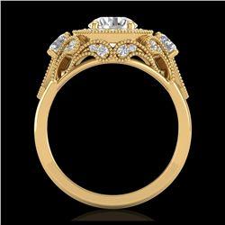 5.12 ctw Emerald & Diamond Ring 14K White Gold
