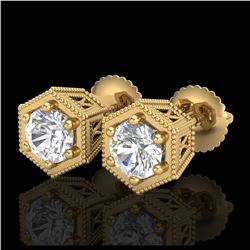 15 ctw Sapphire & VS/SI Diamond Eternity Bracelet 10K White Gold